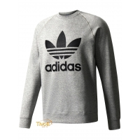 Blusa Adidas Originals Moletom Crew Fleece Trefoil