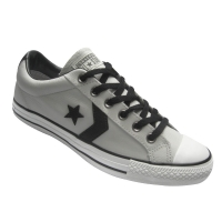 All Star Converse Star Player Leather - Cinza de couro