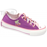 All Star Converse Specialty Cherry Ox - Roxo-orquídea com cereja na lateral
