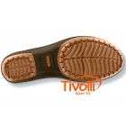 Sapatilha Crocs Carlisa Mini Wedge - Com salto marrom chocolate