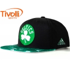 Boné NBA Boston Celtics Adidas - Basquete preto e verde