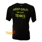 Camiseta Babolat Keep Calm and Play Tennis - Performance I - preta
