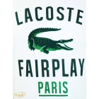 Camiseta Lacoste Fairplay Paris - Branca