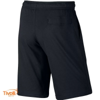 Bermuda Nike Sweat Jersey Club Shorts Retrô - Preta Masculina