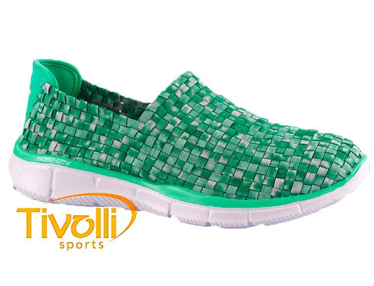 436710162a3 Tênis Skechers Equalizer Feminino Verde e Branco 12028 MNT Por  R  319