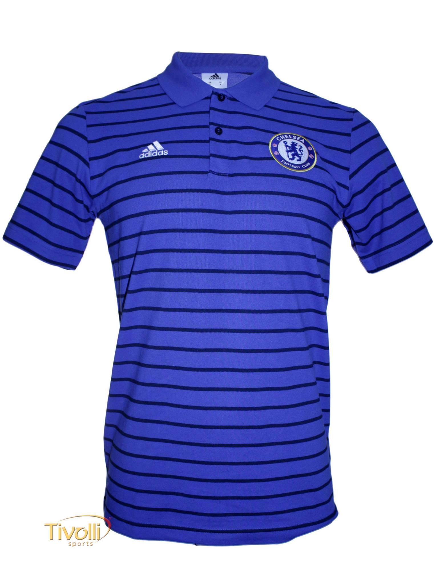83d4d2297b4d2 Camisa Polo Chelsea Premium Viagem Adidas   - Mega Saldão