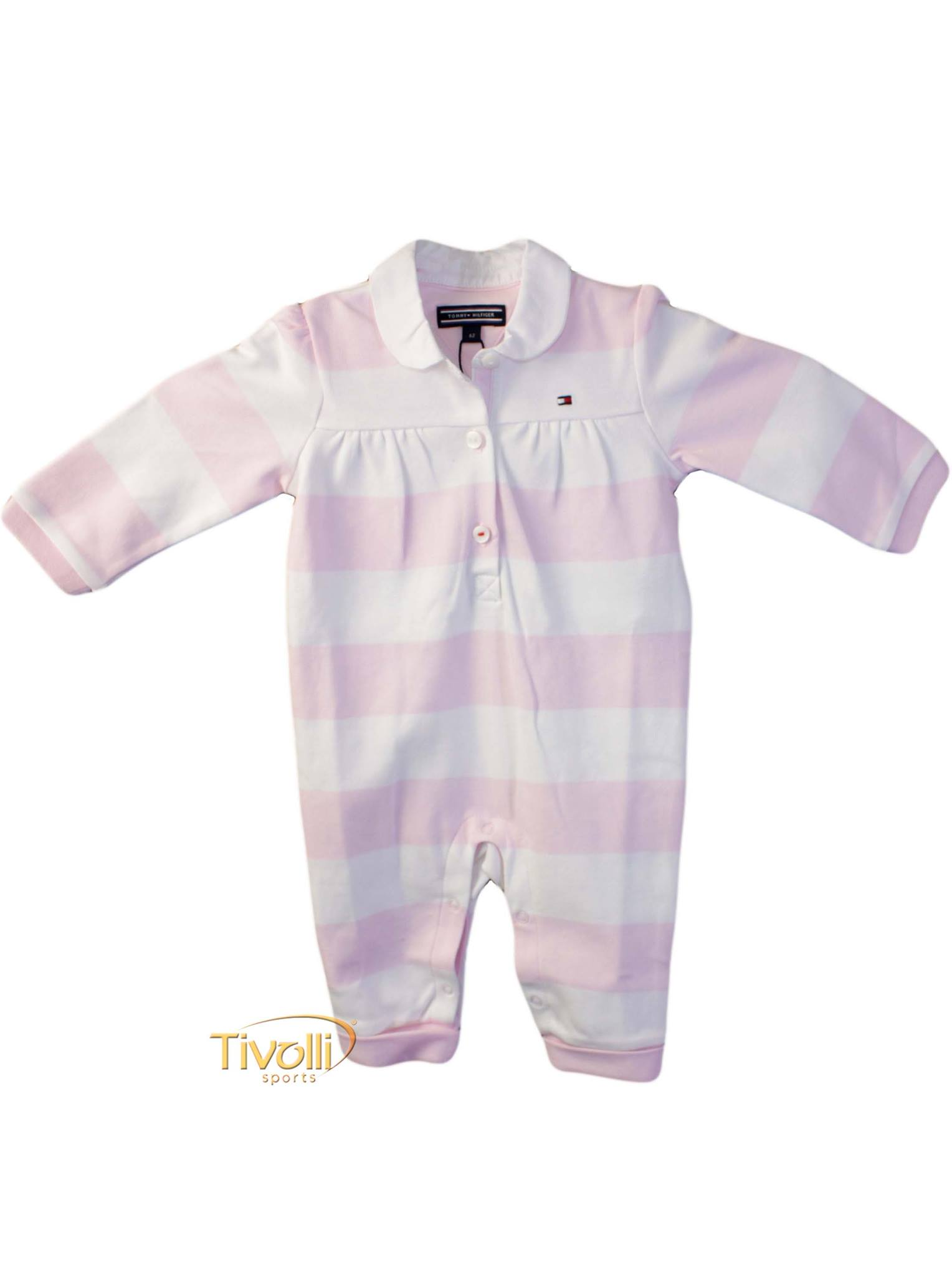 Macacão Tommy Hilfiger Rugby Baby Girl CoverAll
